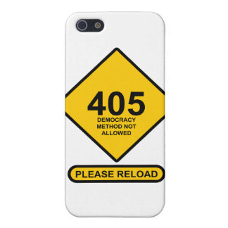 Error 405: Democracy Method Not Allowed Cover For iPhone SE/5/5s