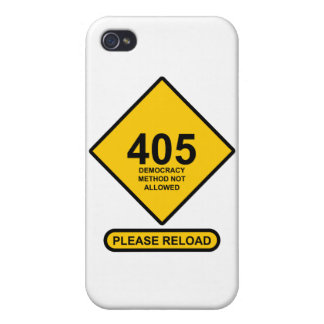 Error 405: Democracy Method Not Allowed Cover For iPhone 4