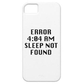 Error 4:04 AM Sleep Not Found iPhone 5 Cover