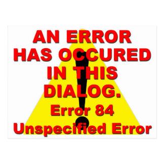 Error 84 tarjetas postales