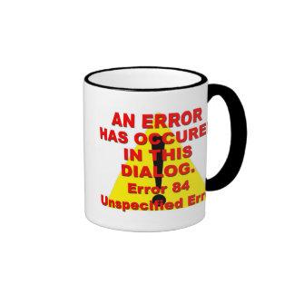Error 84 taza de dos colores