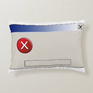 Error box clean empty accent pillow