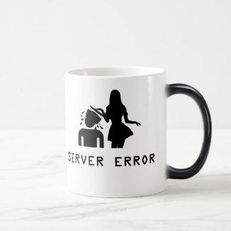 Error de servidor tazas de café