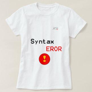 Error de sintaxis polera