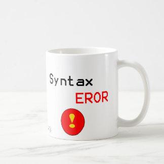 Error de sintaxis taza