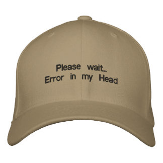 Error Embroidered Hats