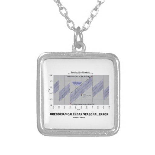 Error estacional del calendario gregoriano colgante personalizado