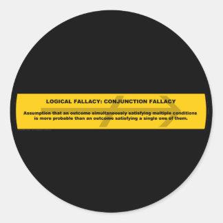 Error lógico: Error de la conjunción Pegatinas Redondas