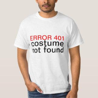 Error no encontrado 401 del traje de Halloween Playera