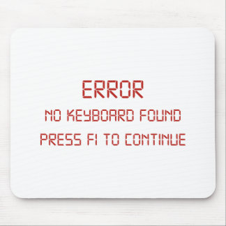 Error No Keyboard Found Press F1 To Continue Mouse Pad