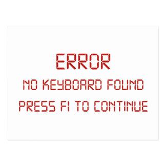 Error No Keyboard Found Press F1 To Continue Postcard