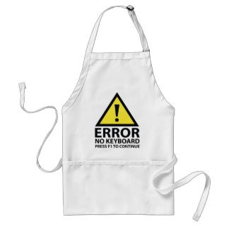 Error No Keyboard Press F1 To Continue Adult Apron