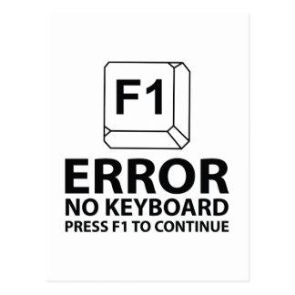 Error No Keyboard Press F1 To Continue Postcard