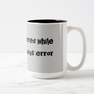 Error Occurred Error Code Two-Tone Coffee Mug