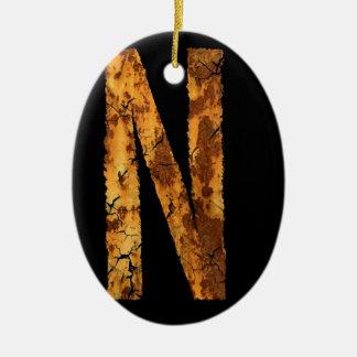 Error tipográfico de la letra ornamento de navidad
