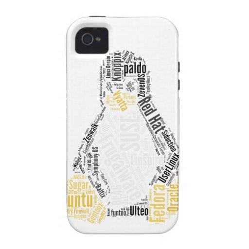 Error tipográfico de Tux Case-Mate iPhone 4 Funda