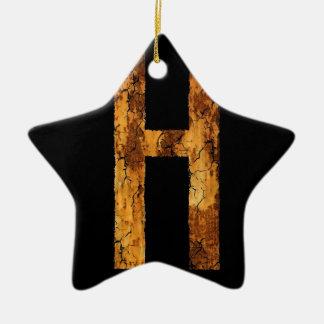 Error tipográfico H de la letra Ornaments Para Arbol De Navidad
