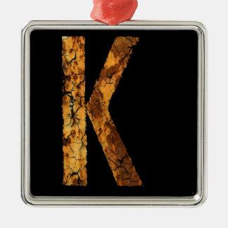 Error tipográfico K de la letra Ornamento Para Arbol De Navidad