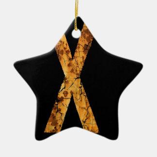 Error tipográfico X de la letra Adornos De Navidad