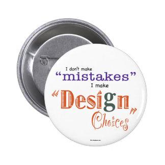 Errores botón de las opciones del diseño pin