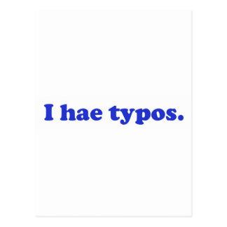 Errores tipográficos de los hae I - azul Postal