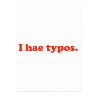 Errores tipográficos de los hae I - rojo Postal