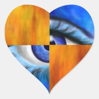 Ersebiossa V1 - hidden eye Heart Sticker