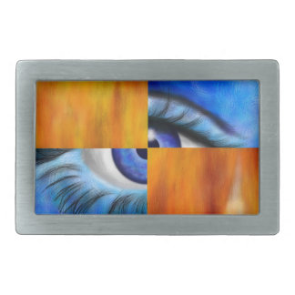 Ersebiossa V1 - hidden eye Rectangular Belt Buckle