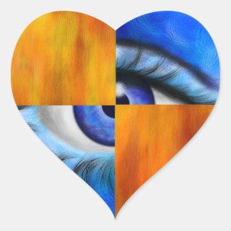 Ersebiossa V1 - hidden eye without back Heart Sticker