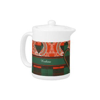 Erskine clan Plaid Scottish tartan Teapot