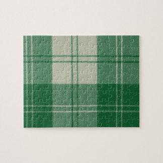 Erskine Dress Green Tartan Jigsaw Puzzle