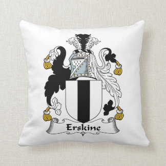 Erskine Family Crest Throw Pillow