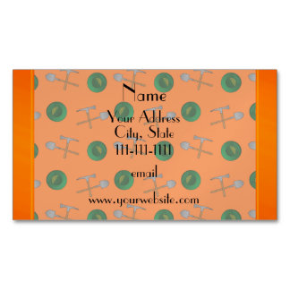 ersonalized name orange gold mining magnetic business cards (Pack of 25)