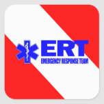 ERT -Emergency Response Team Square Sticker