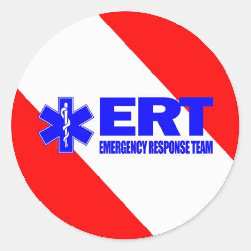 ERT -Emergency Response Team Round Stickers