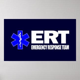 ERT - Equipo de la respuesta de emergencia Posters