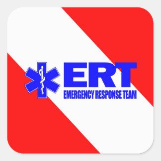ERT - Equipo de la respuesta de emergencia Pegatina Cuadrada