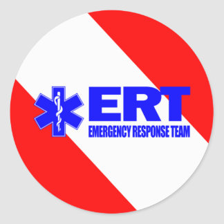 ERT - Equipo de la respuesta de emergencia Pegatina Redonda
