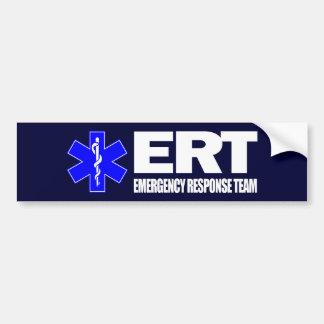 ERT - Equipo de la respuesta de emergencia Pegatina Para Auto