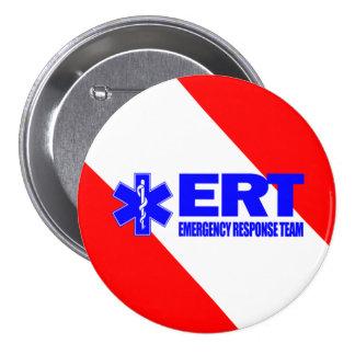 ERT - Equipo de la respuesta de emergencia Pin Redondo De 3 Pulgadas