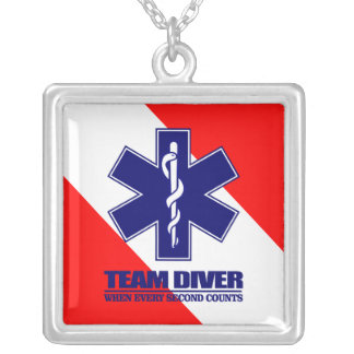 ERT Team Diver Silver Plated Necklace