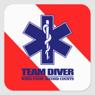ERT Team Diver Square Sticker