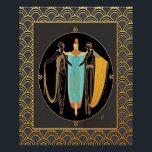 """ERTE Art Deco Three Ladies Poster<br><div class=""""desc"""">I created this Poster with a vintage image painted by ERTE. I brightened it and cleared it and added an art deco border. Very Art Deco. This poster could be framed to make a gorgeous print for a room in your home, especially if you like Art Deco. You can choose...</div>"""
