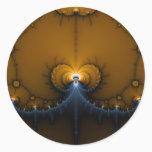 Erte - Fractal Classic Round Sticker