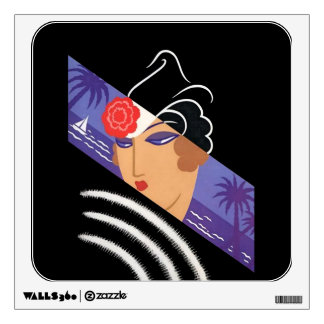"Erte's Beautiful Art Deco Design ""Winter Resort"" Wall Sticker"