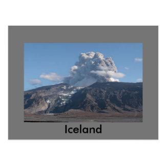 Erupción de Eyjafjallajökull, Islandia Tarjeta Postal