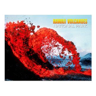 Erupción de Kilauea, parque nacional de los Postal