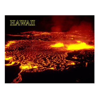 Erupción de Kilauea, parque nacional de los Postales