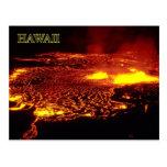 Erupción de Kilauea, parque nacional de los volcan Postal
