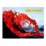Erupción de Kilauea, parque nacional de los volcan Postales